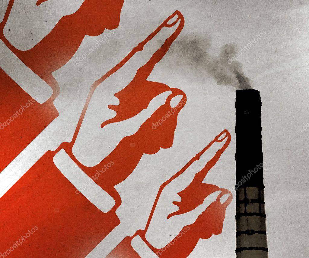 Communist Propaganda Illustration Background