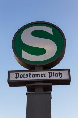 Public transport sign of the S-Bahn station Potsdamer Platz