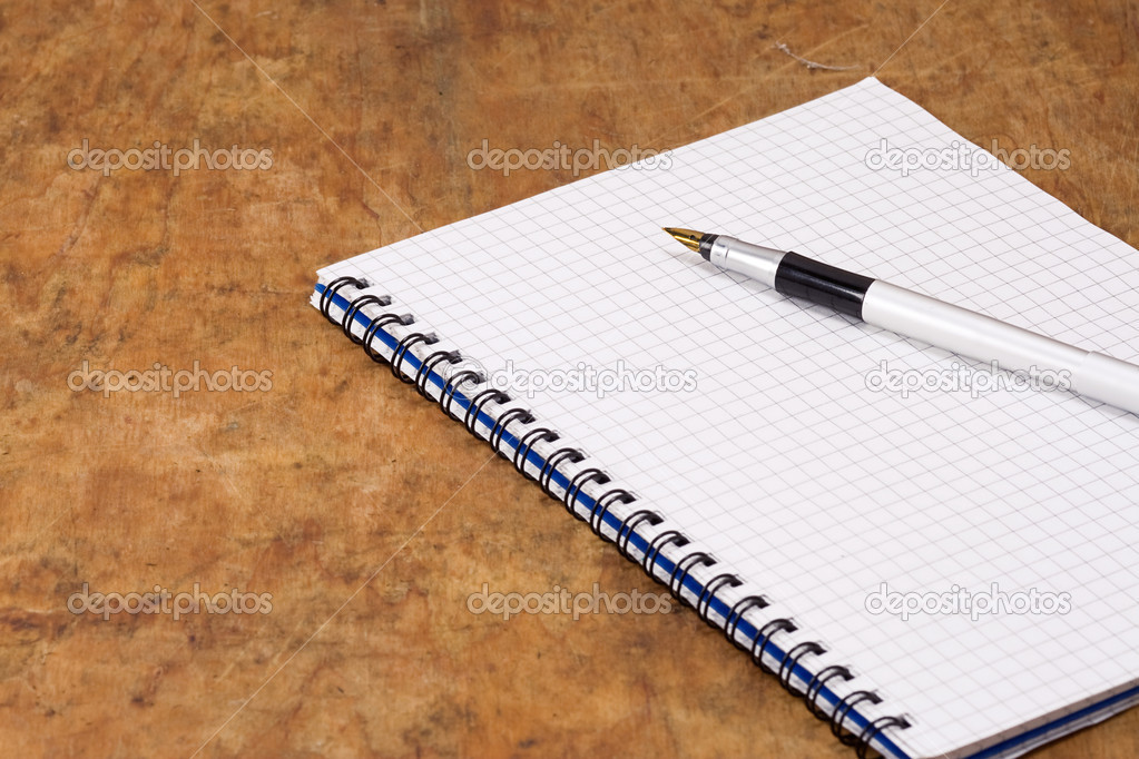Block und Stift — Stockfoto © seregam #11076790