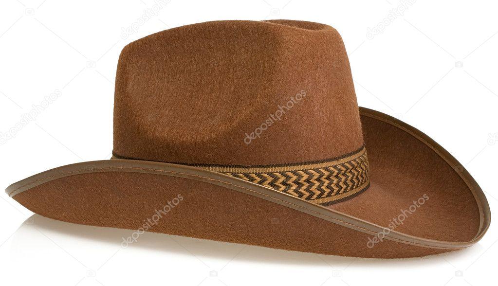 Sombrero marrón aislado en whitebrown sombrero de vaquero aislado en w —  Fotos de Stock 2b3c6f96771