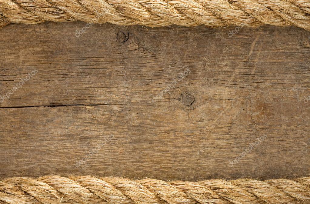 Fronteiras de cordas de navio em madeira fundo for Papel de pared rustico