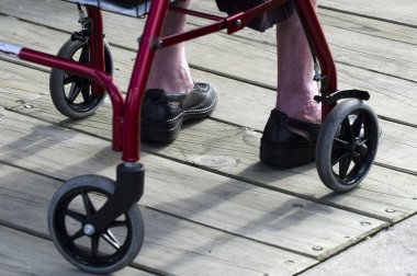 Concept Photo - Old and Elderly Life - Wheelchair