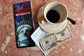 káva zastavení v new york city