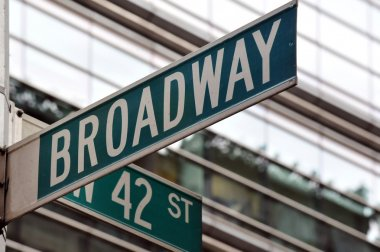 Broadway 42nd street sign