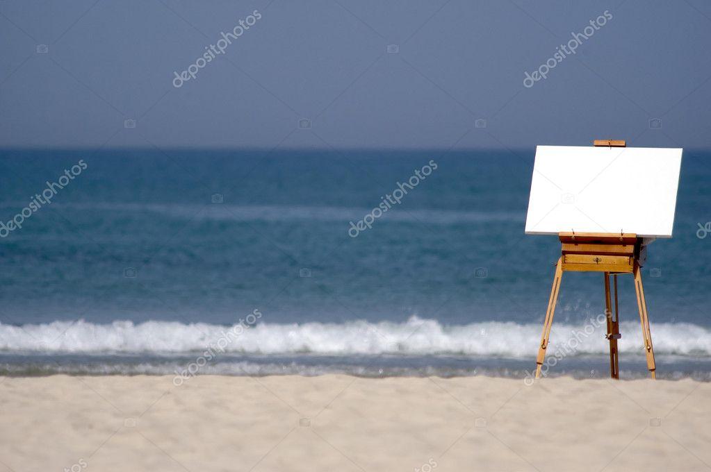 Blank Canvas on Beach