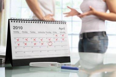 Couple quarrel with negative pregnancy test