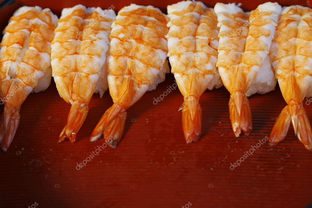 Raw Shrimp Sushi Stock Photo C Rujituk 12022992