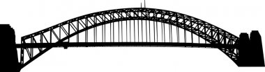 Sydney Harbour bridge silhouette