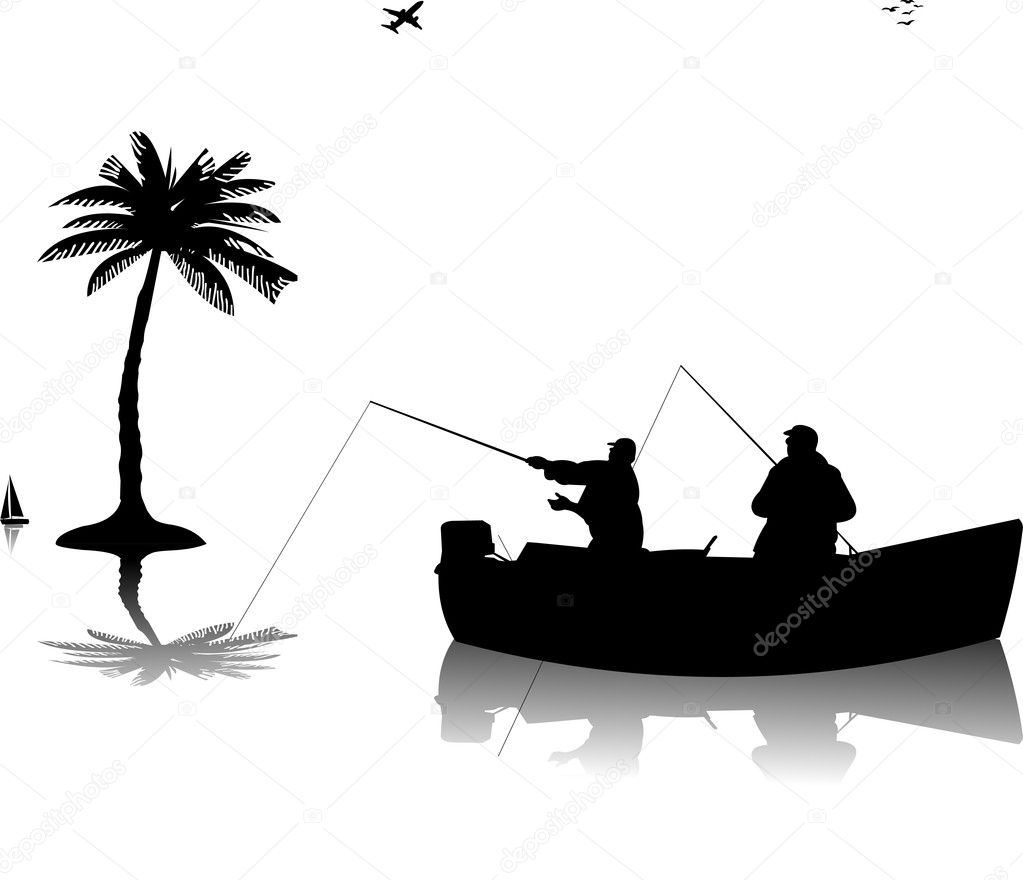 ᐈ Silhouette Of A Boat Stock Vectors Royalty Free Fishing Boat Silhouette Images Download On Depositphotos