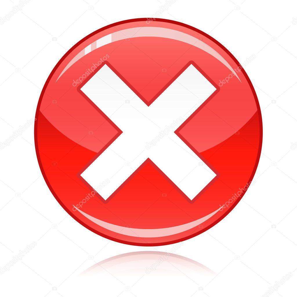 croix rouge bouton refuser mauvaise r ponse annuler image vectorielle redkoala 11396045. Black Bedroom Furniture Sets. Home Design Ideas