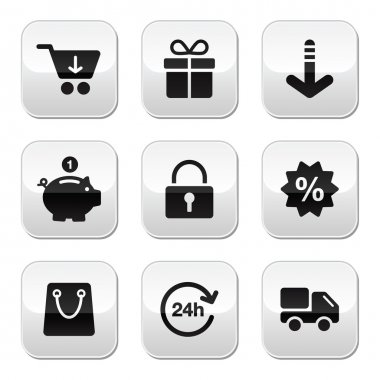 Shopping buttons for website, online store