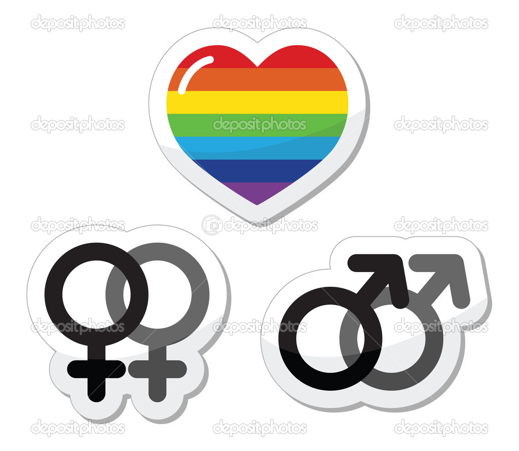 Gay couple gay love icons set stock vector redkoala 11617038 rainbow heart male and female symbols gay marriage gay couples concept vector by redkoala buycottarizona