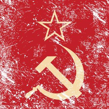 Communism CCCP - Soviet union retro flag