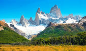 Landscape with Fitz Roy in Los Glaciares National Park, Patagonia, Argentina.
