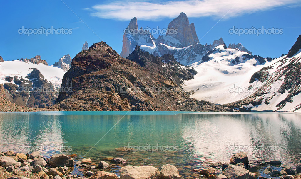 Mountain landscape with Mt. Fitz Roy in Patagonia, South America