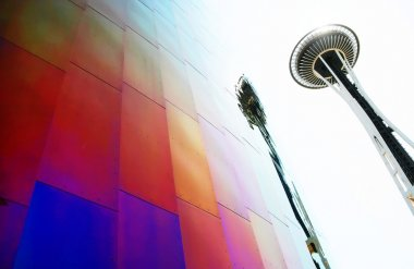 Space Needle and EMP Museum in Seattle, WA
