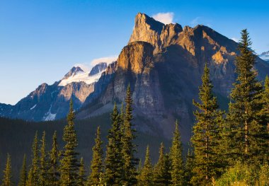 Wilderness with Rocky Mountains in Banff National Park, Alberta, Canada
