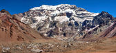 Aconcagua, the highest mountain in South America