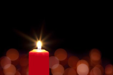 Red christmas candle background