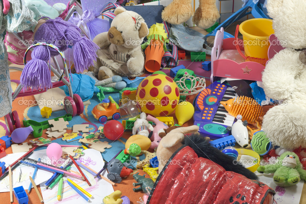 Messy Kids Room Before And After messy kids room with toys — stock photo © udra #12002200