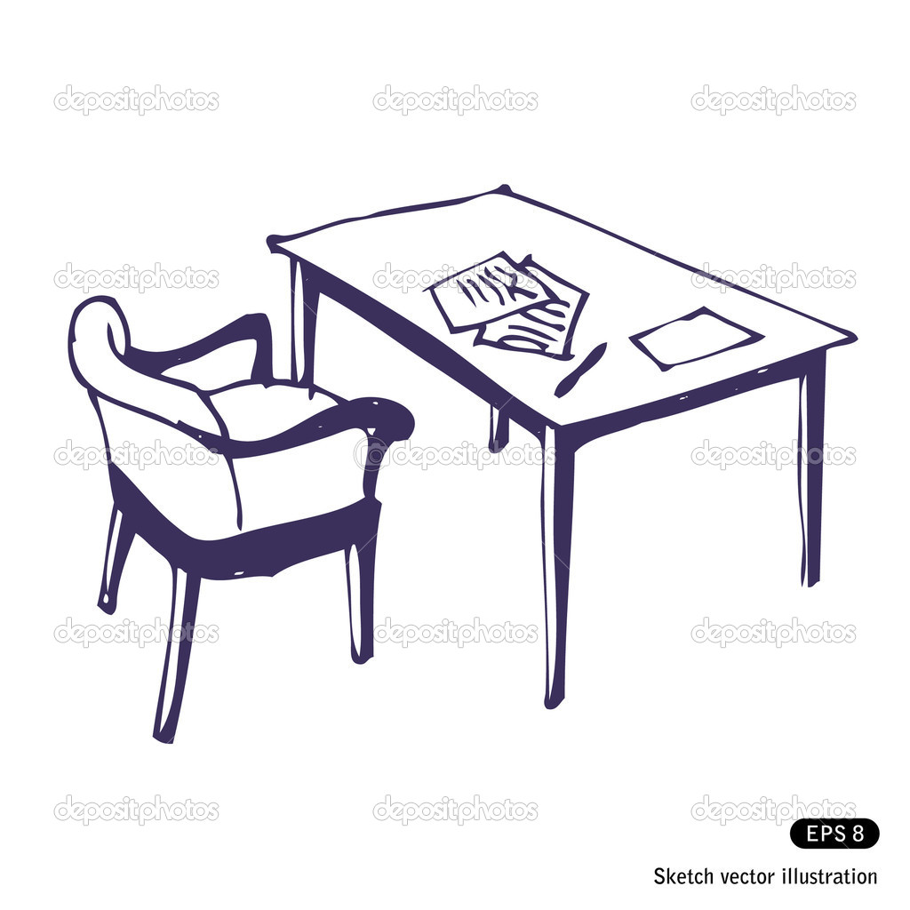 A desk chair drawing - 28 images - free furniture plans to b.