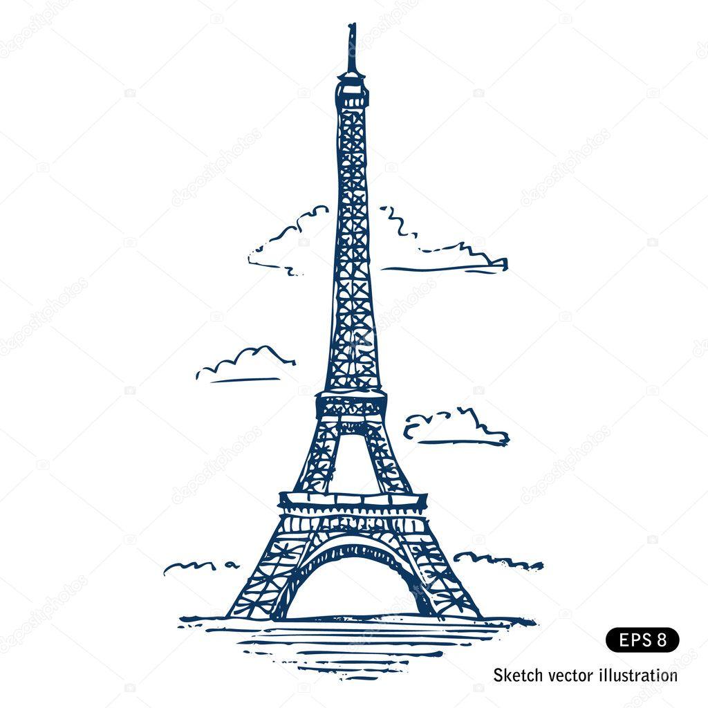 Векторная Эйфелевая Башня