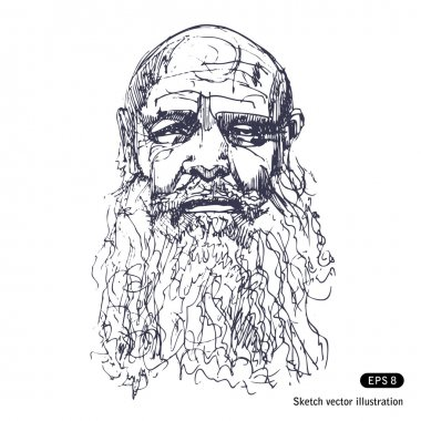 Old man with a beard