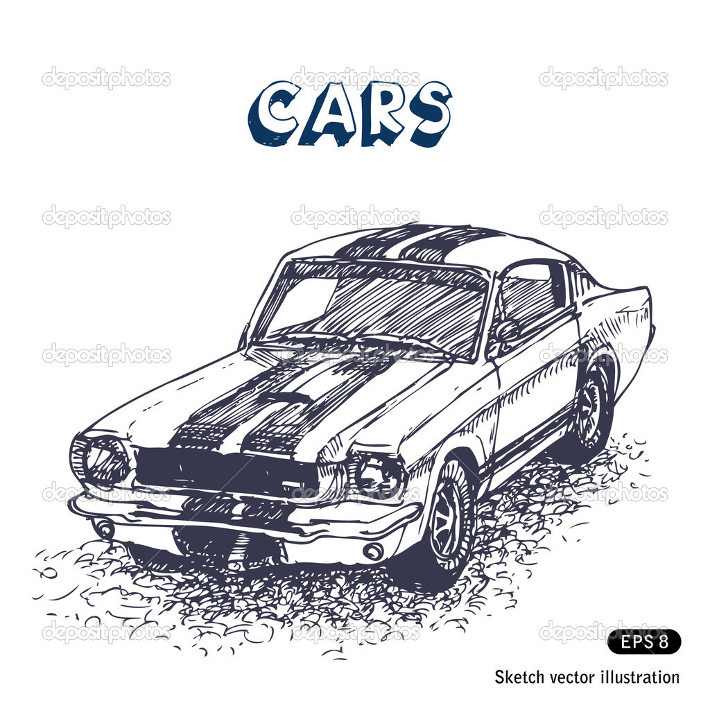 Old Car Stock Vector C Multirealism 11393072