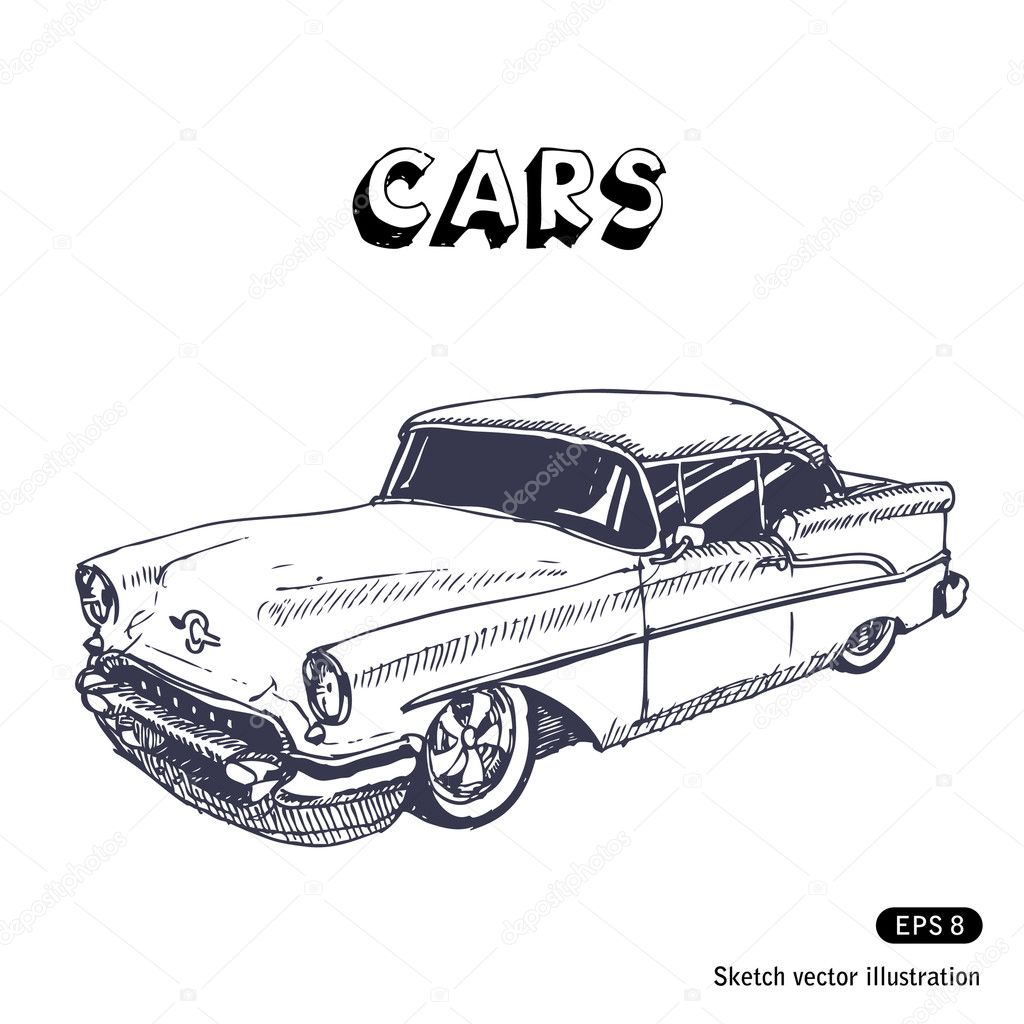 Old Car Stock Vector C Multirealism 11393073