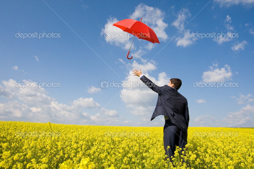 Catching umbrella
