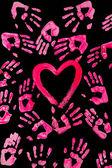 Fotografia cuore e mani