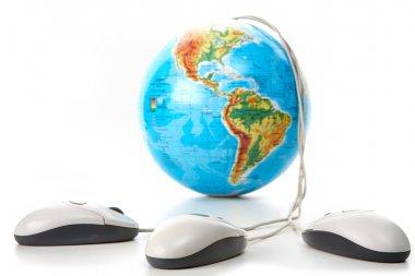 Globe with mice