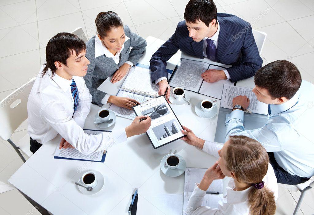 Group work ⬇ Stock Photo, Image by © pressmaster #11629888