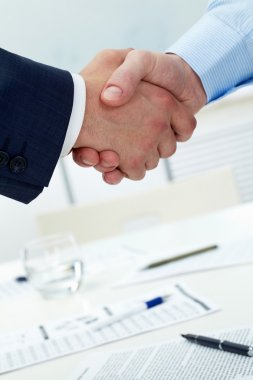 Confident handshake