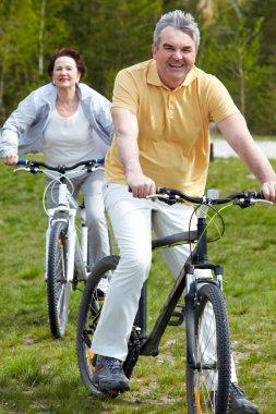 Mature bicyclist