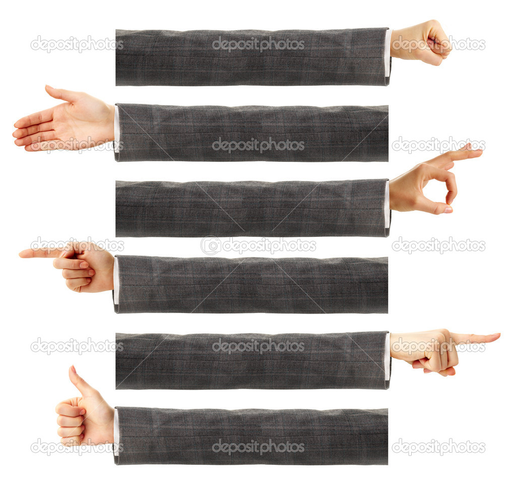 Creative image of human hands showing different gestures