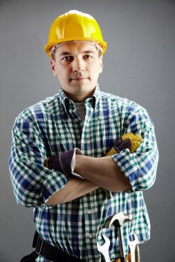 Handsome worker