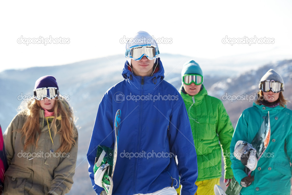 with snowboards