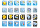 Fotografie Sammlung von Wetter-icons