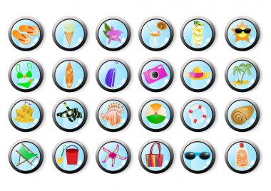 Set of vacation web icons