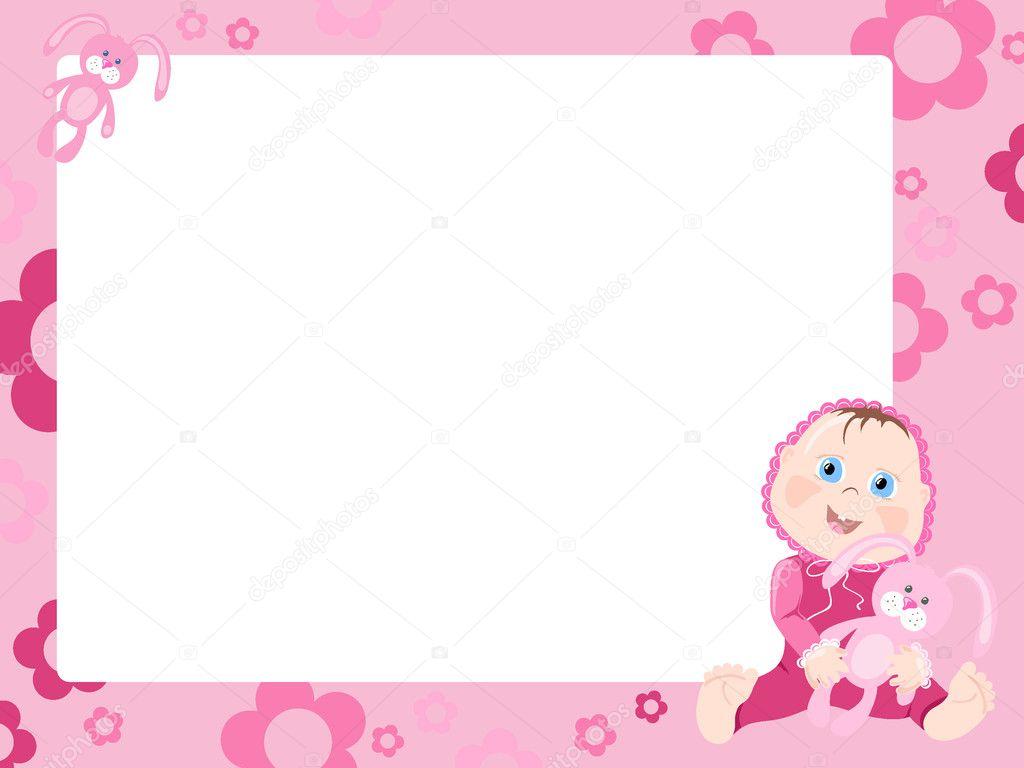marco rosa con bebé — Archivo Imágenes Vectoriales © pressmaster ...