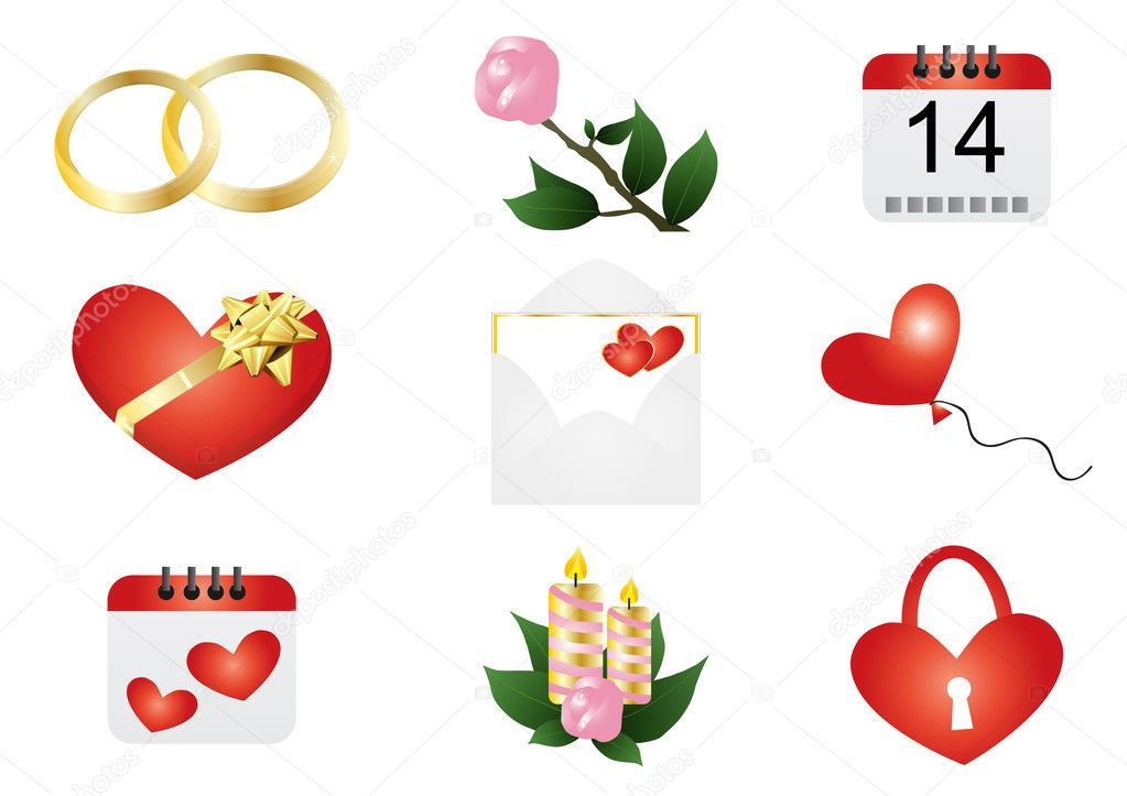 Valentine S Day Symbols Stock Vector C Pressmaster 11697785