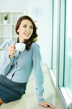 Smiling office girl