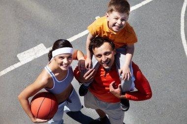 Family on playground