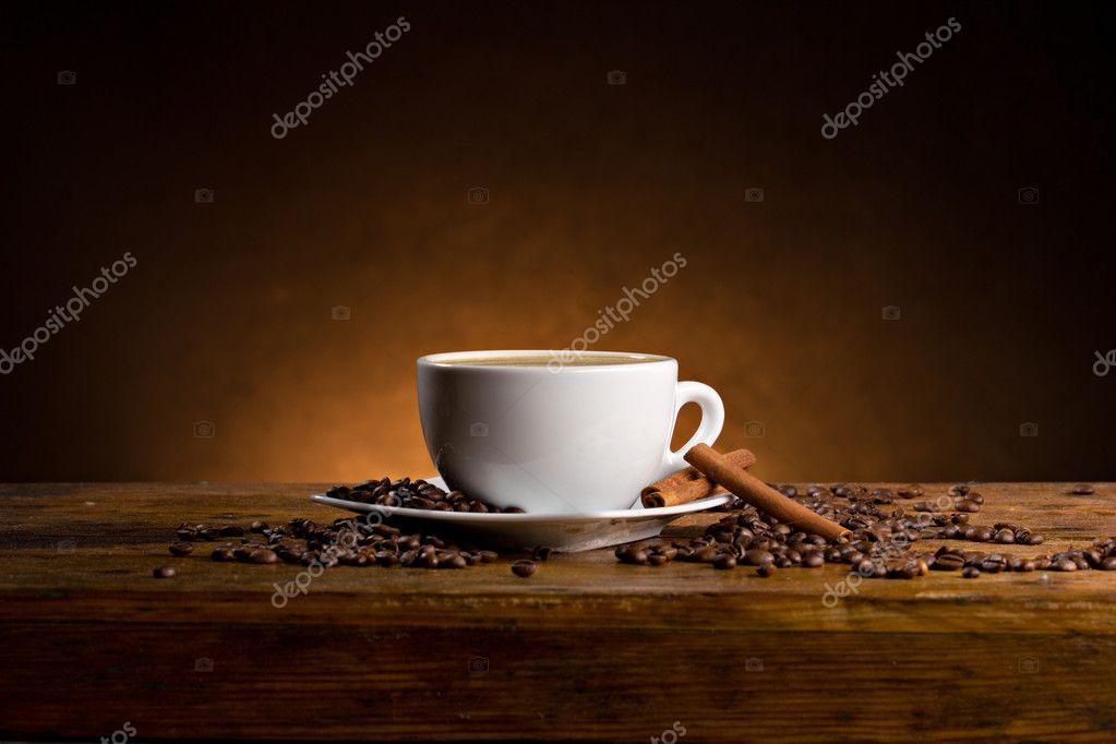 Espresso with cinnamon