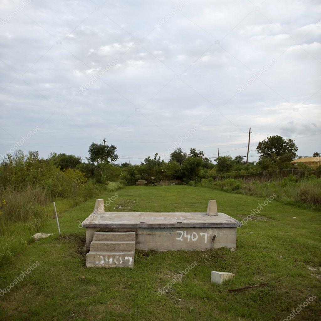 House foundation after Hurricane Katrina, New Orleans, Louisiana