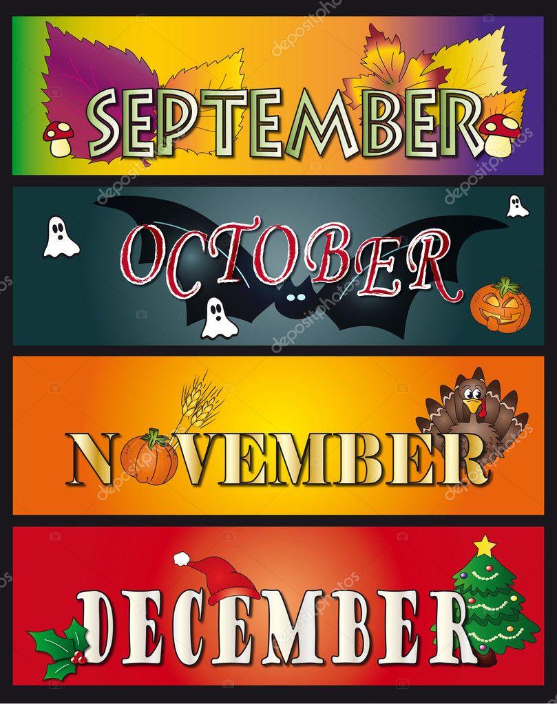 September october november december — Stock Photo