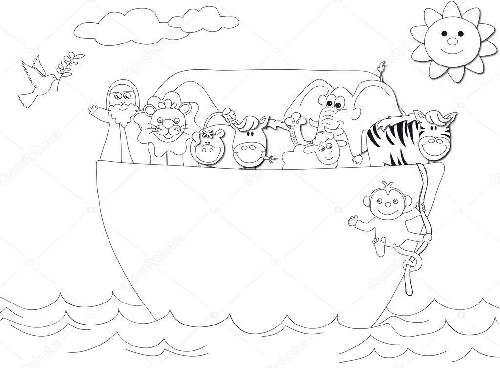 Dibujos: el arca de noe animados para colorear | Arca de Noé — Foto ...