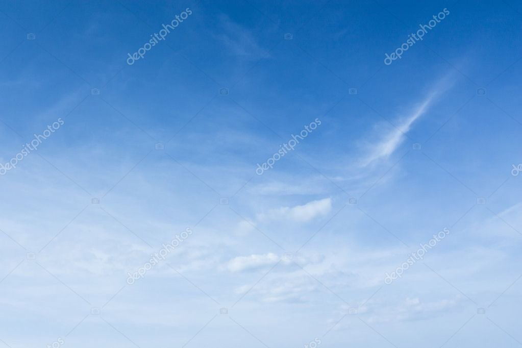 The sky, clouds