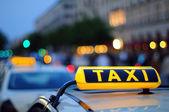 Fotografie taxi znamení
